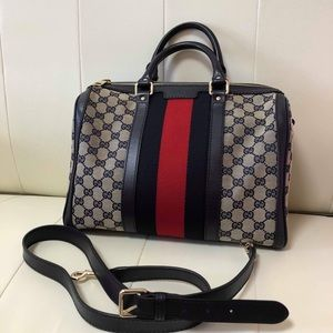GUCCI BOSTON WITH SHOULDER STRAP VGUC